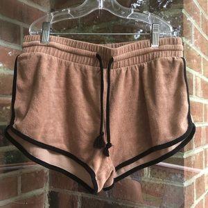 Soft camel & black forever 21 shorts
